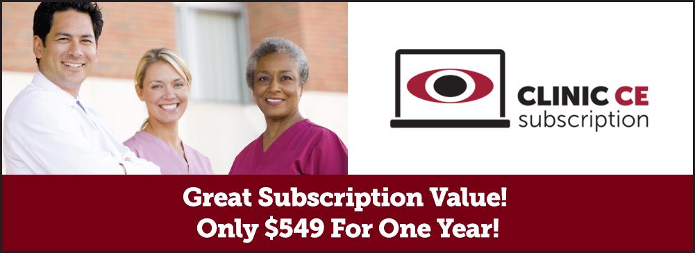 Clinic CE Subscription Header